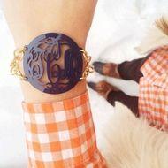 Acrylic Isobel Monogram Bracelet