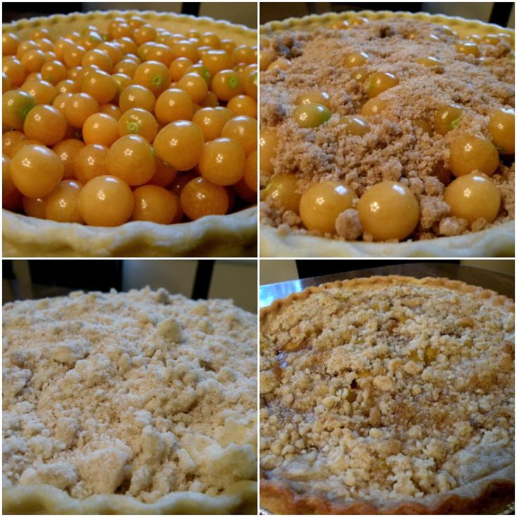 An easy ground cherry crumb pie recipe! Ground cherries are also sometimes called husk tomatoes, and are delicious & easy to grow in your garden.