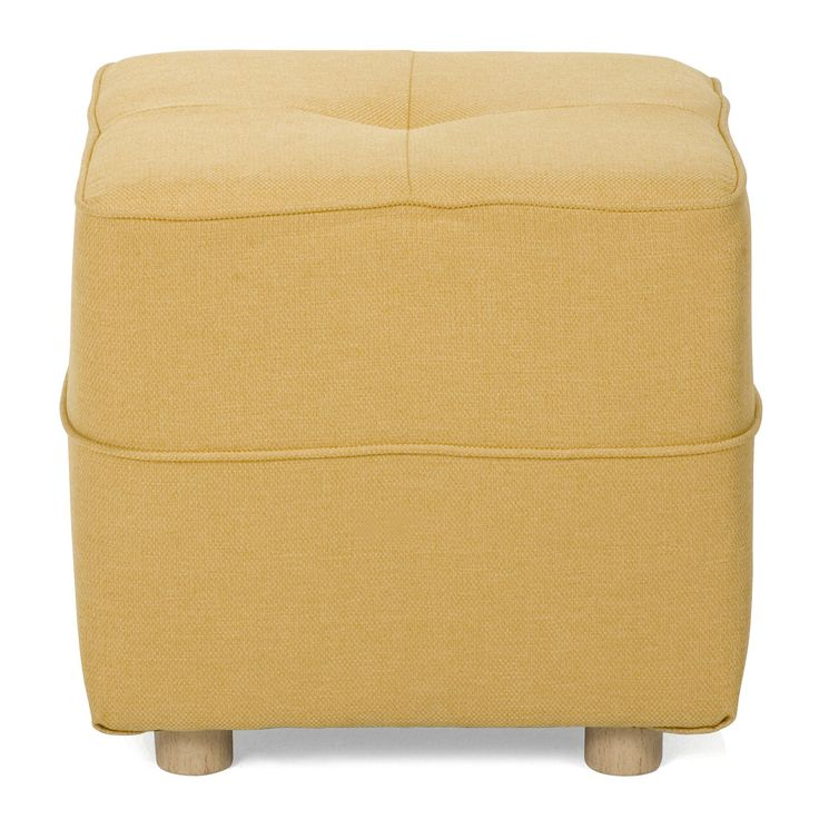 pouf jaune vicky canap poufs fauteuils poufs salon. Black Bedroom Furniture Sets. Home Design Ideas