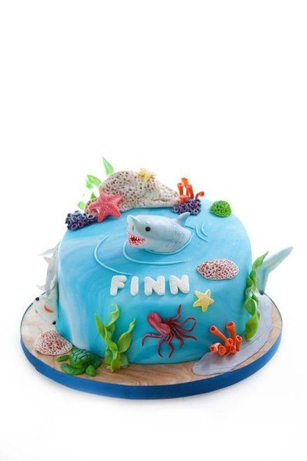 ... Shark cakes on Pinterest  Cakes, San jose sharks and How to make cake