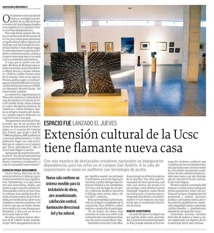 Inauguración nota Diario El Sur