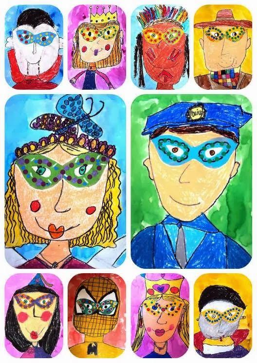 costumes, Carnival 1st grade portrait