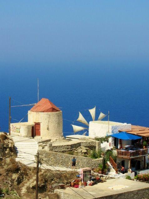 Mulini a vento di Olympos. #karpathos #Olympos #Colors #Greece #blue