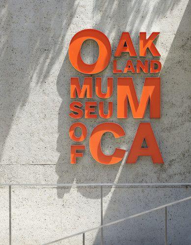 Oakland Museum of California signage