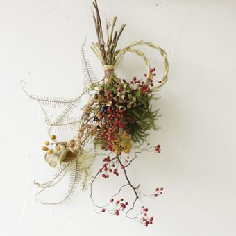お正月飾り New year flower wreaths