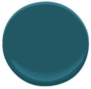 Galapagos Turquoise 2057-20 paint, Benjamin Moore...A ...