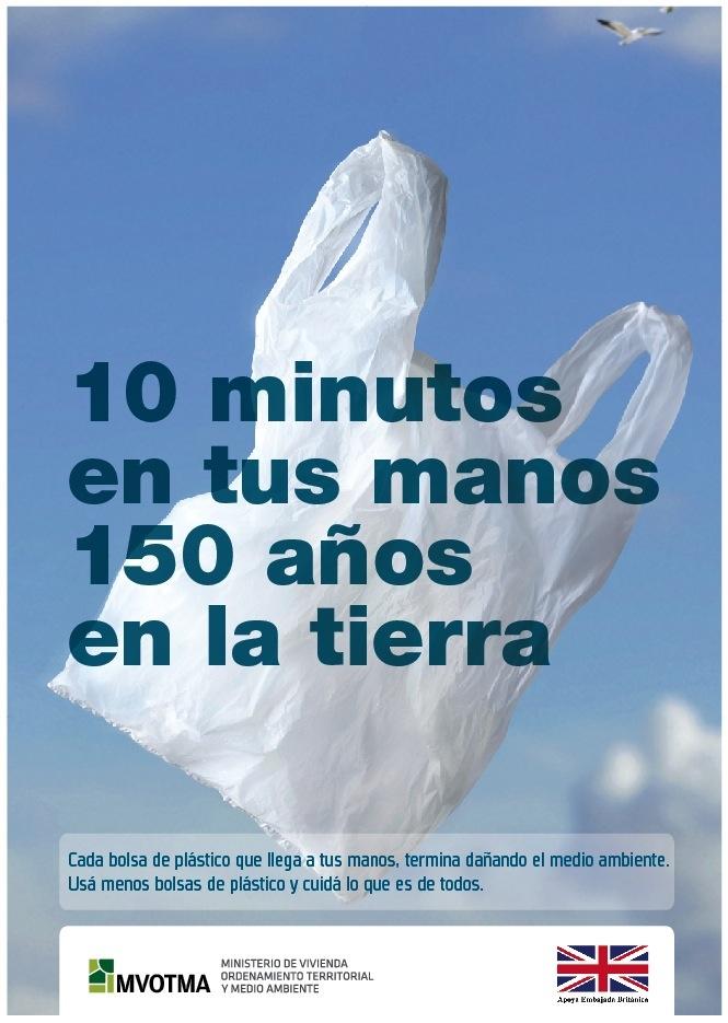 En esta publicidad se muestra claramente lo dañino que son las bolsas plásticas para el medio ambiente.