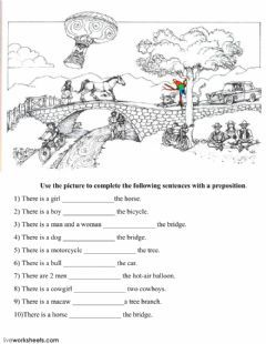 Prepositions of Place Language English Grade/level