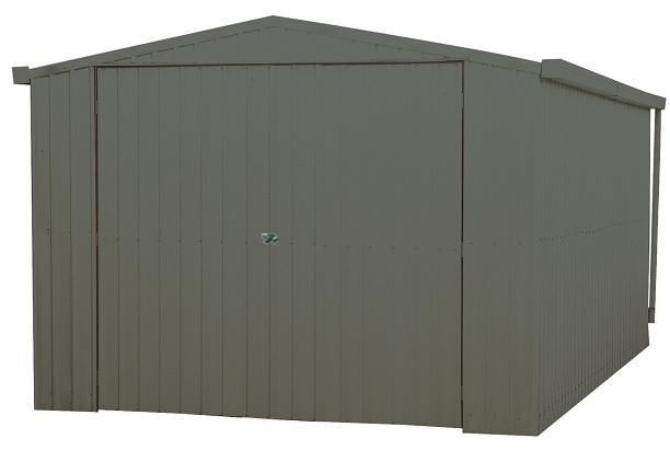 ABSCO SINGLE GARAGE 3.4m x 5.5m Single TILT DOOR Sheds Colorbond WOODLAND GREY