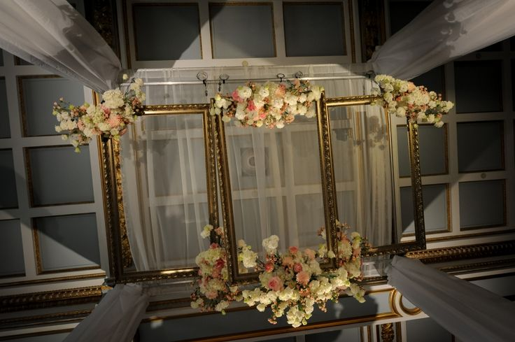 Statement Chuppah created for our bride and groom at the Windsor Ballrooms. || Florals by Tatiana from Romanoff Flowers || Chuppah by Total Events || Photography: La Vie Image