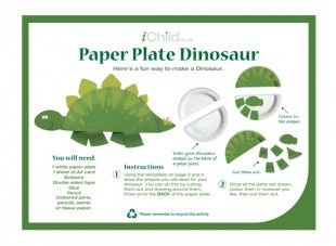 Your child will love this paper plate craft activity of a dinosaur!  sc 1 st  Pinterest & 25+ best Dinosaurs images on Pinterest | Dinosaurs Birthdays and ...