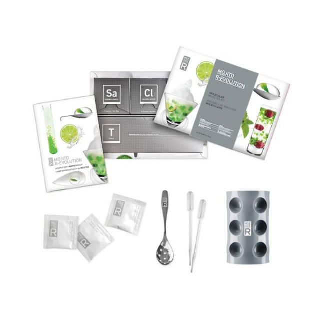 Restructure your happy hour with the tools in this mind-bending molecular gastronomy kit. Reinvent the classic mojito with these tools and additives and three exciting recipes—sugar foam, mint leaf pea...  Find the Kitchen Gastronomy Cocktail Kit - Mojito, as seen in the End of Summer Clearance: Kitchen Collection at http://dotandbo.com/collections/end-of-summer-clearance-kitchen?utm_source=pinterest&utm_medium=organic&db_sku=89619