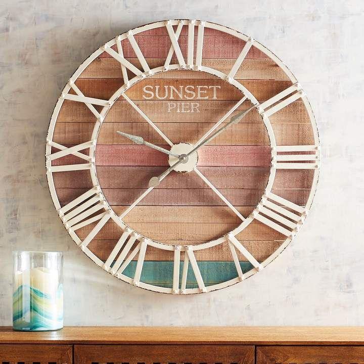 Sunset Pier Wall Clock ad wallclocks clocks