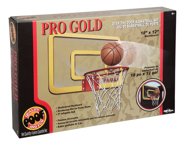 POOF Pro Gold Over The Door Basketball Hoop