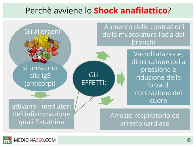 Lo shock anafilattico è una reazione allergica molto intensa causata dal contatto, dall'ingestione, dall'inoculo o dall'inalazione di una sostanza scatenante. È