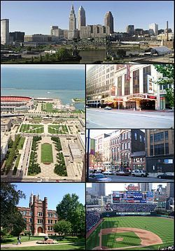 Cleveland ( /ˈkliːvlənd/) is a city in the U.S. state of Ohio and is the county seat of Cuyahoga County,[5] the most populous county in the state. The city is located in northeastern Ohio on the southern shore of Lake Erie
