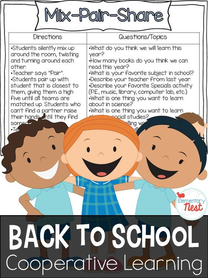 Back to school is a perfect time for cooperative learning- so many opportunities for students to get to know each other during the first week back with cooperative learning