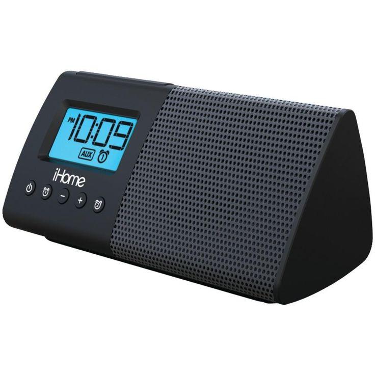 IHOME iHM46BC Portable USB Charging Dual Alarm Clock Speaker System