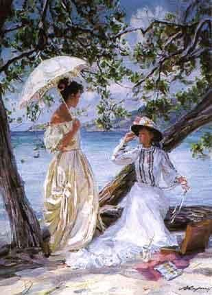 In the shade of the trees ........     .......  .......   ALEXANDER AVERIN  .............    born in 1952 ..... Russian .......   .     Blouin Art Sales Index