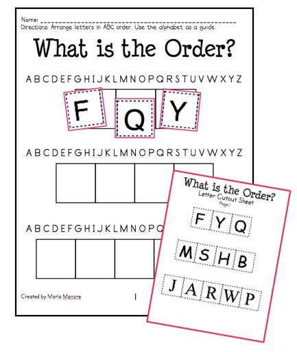 FREE Download Of Activity Pages To Introduce ABC Order