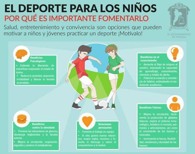 Invita Toluca A Practicar Deporte Para Cuidar La Salud Beneficios Del Ejercicio Infografia Salud Educacion Fisica