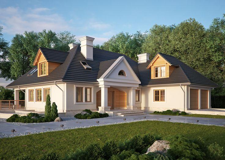 LK&520 - dom jednorodzinny w stylu dworkowym