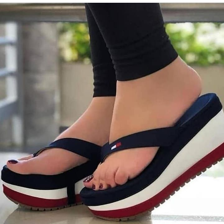 Details about  /Women Wedge  Antiskid Beach Sandals Platform High Heel Flip Flops Slippers Shoes