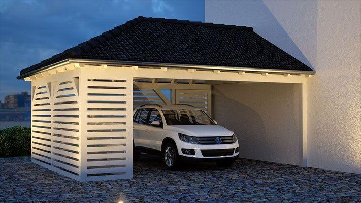 24 Walmdach Carport Galerie Lean To Carport Carport Designs Modern House Plan