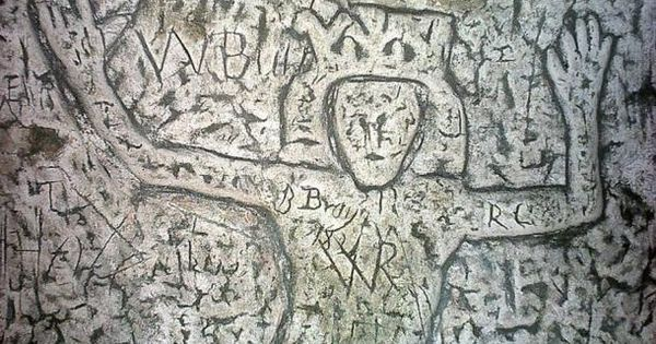Detail of Royston Cave, Royston, Hertfordshire | Projects | Pinterest | Unexplained phenomena, Caves and Carving