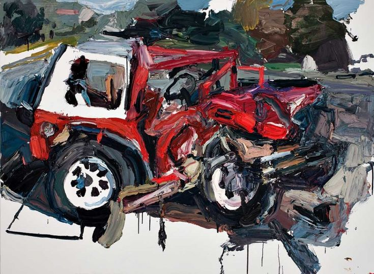 Ben Quilty - Crash Painting, oil on linen, 2009