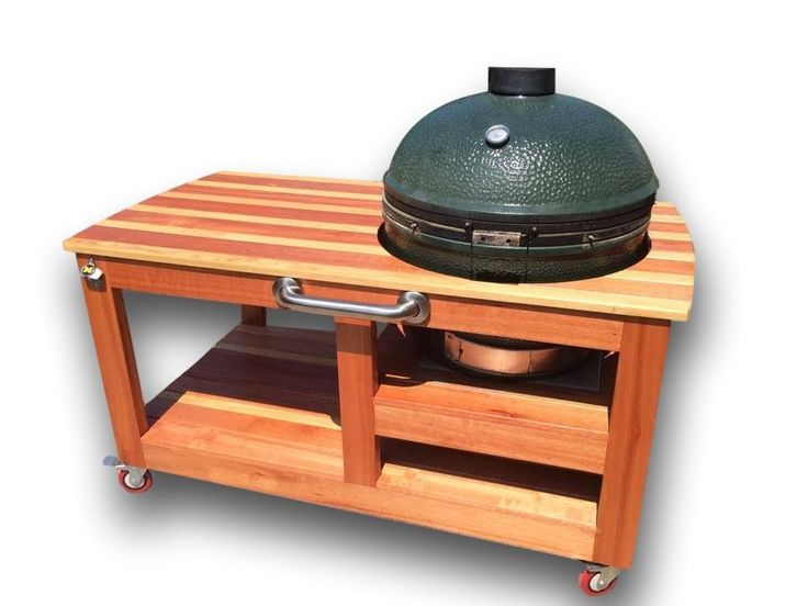 Buy A Hand Made Custom Big Green Egg Table, Made To Order From .