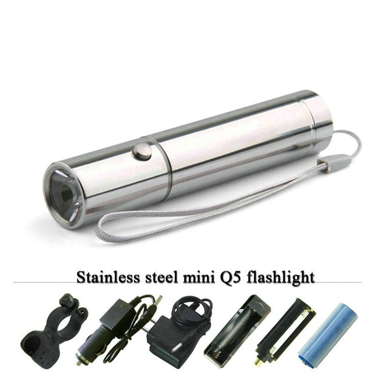 MINI LED rechargeable Flashlight Stainless steel Torch 3 Mode linterna Cree Q5 waterproof led lamp flash light #Affiliate