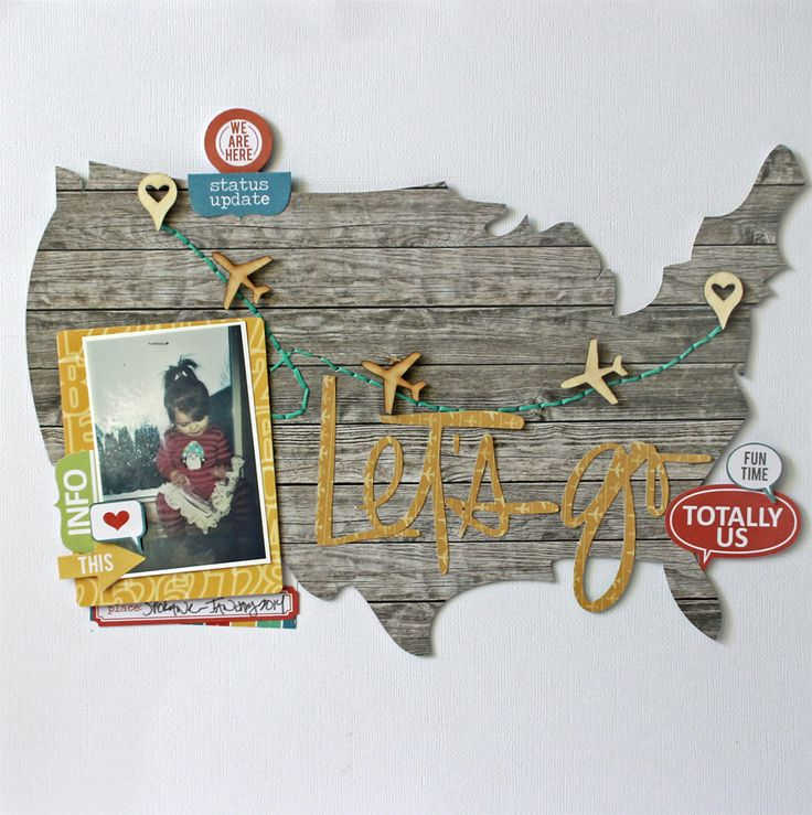 Let's Go- Chic Tags!  Ooo I also like the idea of doing a continent or land mass shaped book.