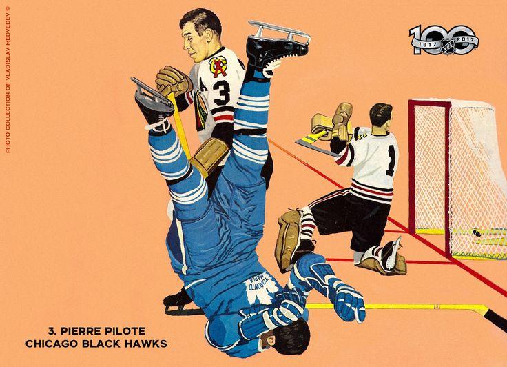 Pierre Pilote Chicago Black Hawks #хоккей #НХЛ #классика #icehockey #chicagoblackhawks #torontomapleleafs #NHL