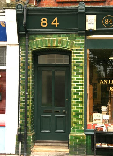 Victorian Green 'Subway' Tiles Often Line Shop or Dwelling Entrances on the High Street.