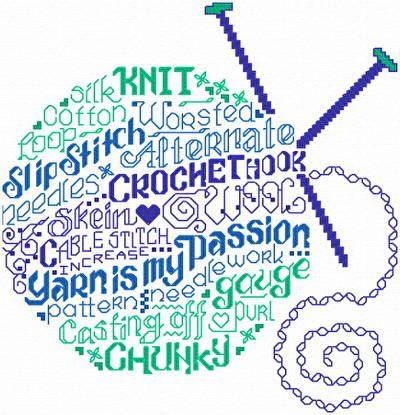 Lets Have Fun with Yarn cross stitch pattern available in the UK from http://www.artsanddesigns.com/cgi-bin/viewDetails.pl?catnumber=610877096