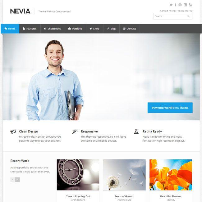 The 36 best free wordpress themes images on pinterest wordpress nevia responsive wordpress theme best wordpress themes 2013 html website templatesbusiness flashek Choice Image