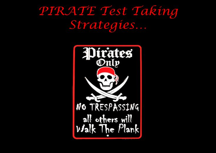 Pirate Test-Taking Strategies--includes PPT to show at test pep-rally (Testing) (Teacher Inspiration)