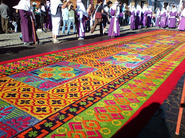 Semana Santa. These are handmade with flowers they spend hours and days making them for the procession on holy week.