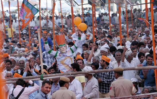 Shri Narendra Modi addressed massive rallies in Baghpat and Amroha in Uttar Pradesh, and at Gohana in Haryana