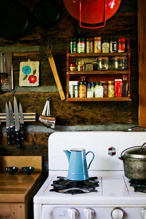Simple cabin kitchen.