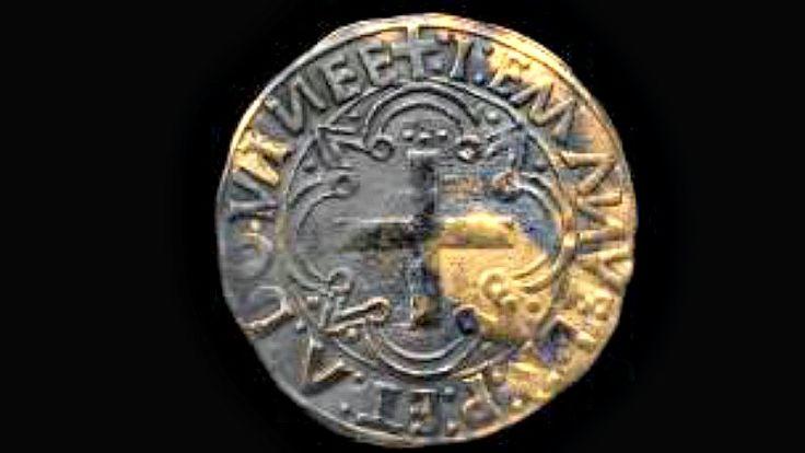 Imagen de un cruzado de oro, moneda acuñada en Lisboa, Portugal, entre los años 1495 y 1501, y recuperada recientemente del barco naufragado hace más de 500 años frente a las costas de Omán