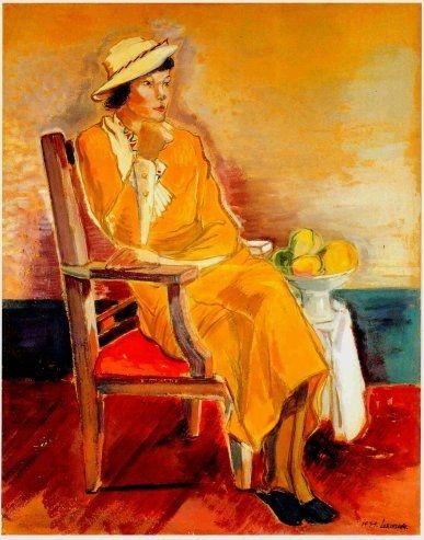 노란옷을 입은 여인, 이인성