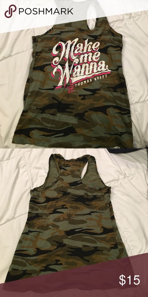 "country tanktop thomas rhett ""make me wanna"" camo tank top from concert Tops Tank Tops"