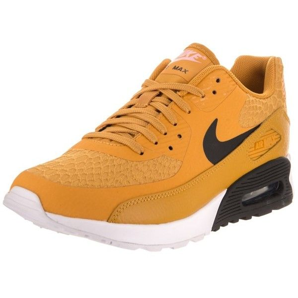 Nike Nike Women's Air Max 90 Ultra 2.0 Running Shoe | Bluefly.Com ($125) ❤ liked on Polyvore featuring shoes, athletic shoes, yellow, nike athletic shoes, lace up shoes, yellow running shoes, mesh material shoes and retro shoes