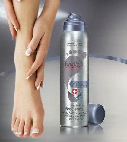 Spray anti-transpirante para pies