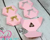 Dirty Diaper Game Baby Pink Diaper Pins - Gold or Silver Bows - Princess Baby Shower Game - Girl Baby Shower