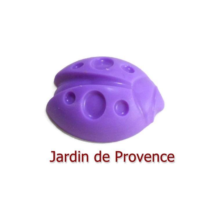 Fondant Parfumé Jardin de Provence Coccinelle Porte Bonheur Insecte Cire Végétale Naturelle Parfum à Fondre Parfum : Luminaires par fondants-de-cire-parfumes-fleur-artifice