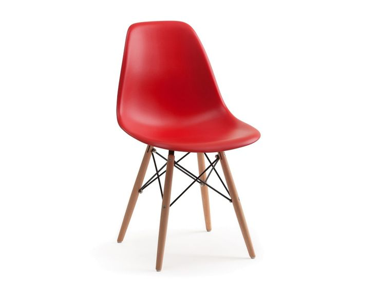 EIFFEL - Wooden dining chair - Red