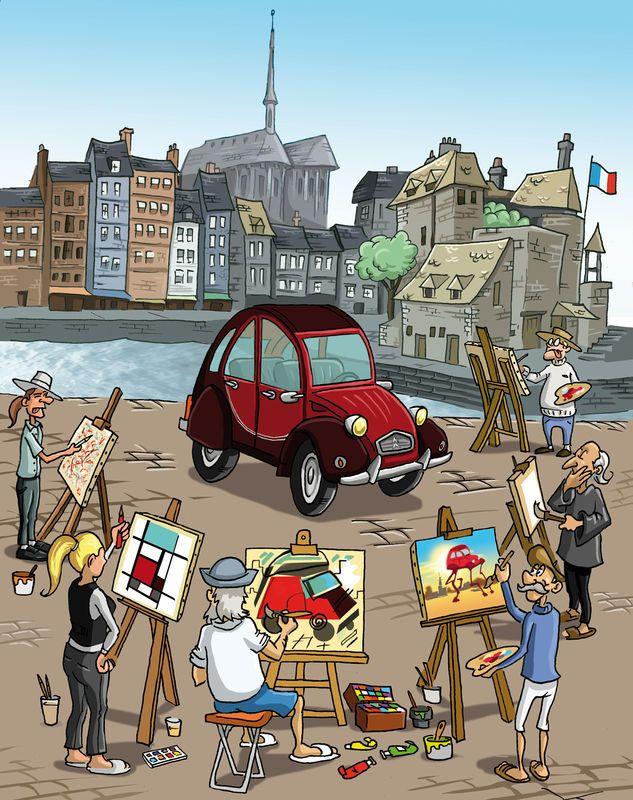 18 best images about 2cv carte postale on pinterest - Dessin 2cv humour ...